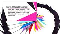 Multiloft Visiten-Karten drucken: Druckereien in Kißlegg, Druckerei finden, Druckerei Kißlegg, Multiloft-Farbkern